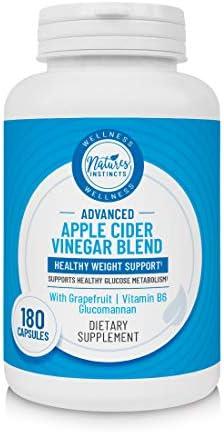 Nature's Instincts Apple Cider Vinegar Capsules | Apple Cider Vinegar + Grapefruit + Vitamin B6 | Weight Management Supplement, 180 Capsules 1