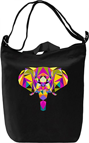 Colorful elephant head Borsa Giornaliera Canvas Canvas Day Bag| 100% Premium Cotton Canvas| DTG Printing|