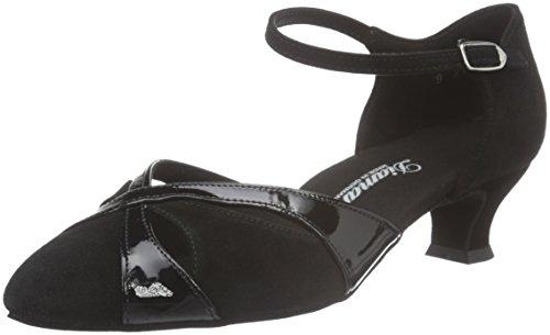 Diamant Damen Tanzschuhe 142-014-008 , Zapatillas de Baila Moderno y Jazz Mujer Negro