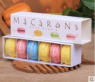 Macarrón cajas de cartón, caja para bizcochos, caja para galletas, caja de dulces