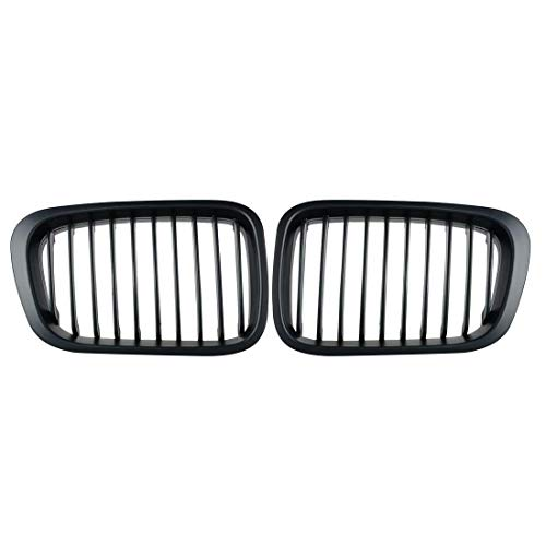 - Heart Horse Front Replacement Kidney Grille Grill Compatible with BMW E46 320i 323i 325i 328i 330i 4D 4 Door 3 Series Sedan 1998-2001 Matte Black