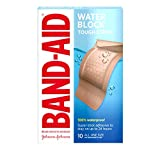 Band-Aid Brand Tough-Strips Waterproof Adhesive Bandage for Minor Cuts & Scrapes, Extra Large, 10 ct