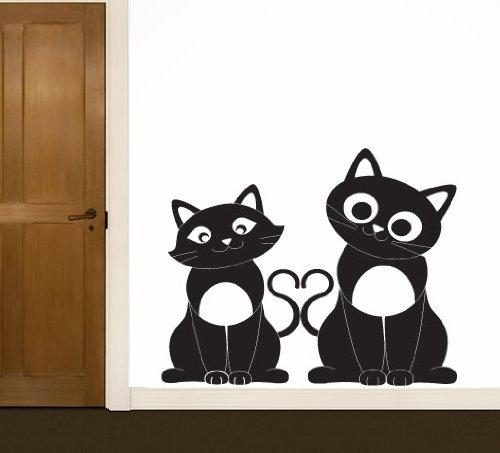 Amor Gatos Pared Pegatinas de vinilo de Arte - por favor elegir su ...
