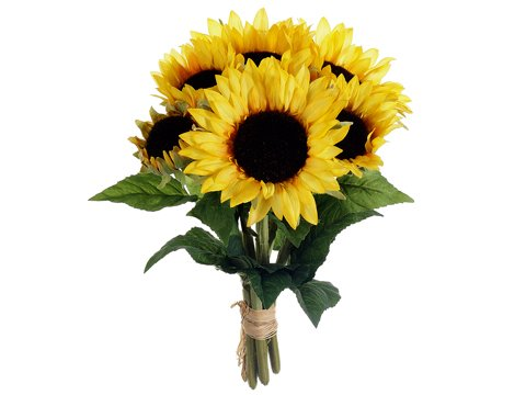 16SunflowerBouquetx6YellowPackof6