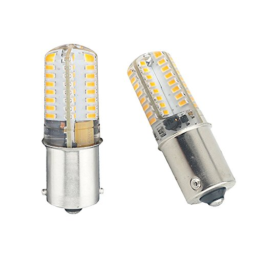 Bonlux 2-pack Single Contact Bayonet Ba15s LED Bulb 1141 1156 1073 1093 LED Replacement DC10-20V Warm White for Interior RV Camper Yard Lighting
