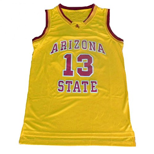 NO.13 James Harden Arizona State University Sun Devils college basketball jersey embroidered logo yellow XXL