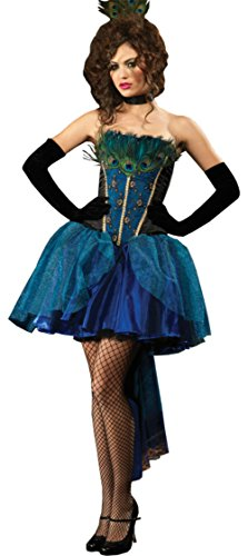 Leg Avenue Womens Peacock Princess Masquerade Outfit Fancy Dress Sexy Costume, S (4-6)