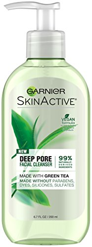 Garnier SkinActive Face Wash with Green Tea, Oily Skin,  6.7 fl. oz. (Best Face Wash And Moisturizer For Oily Skin)