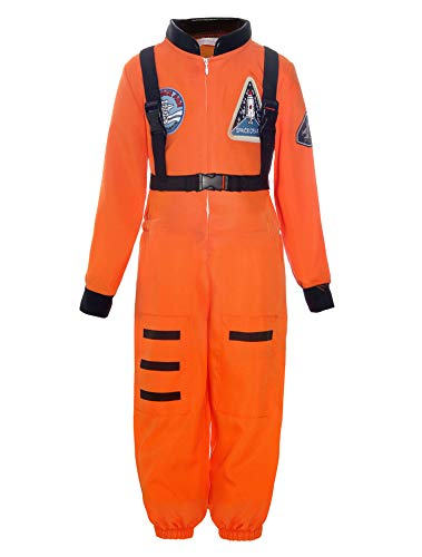 ReliBeauty Boys Kids Children Astronaut Role Play Costume, Orange, 2T-3T ()