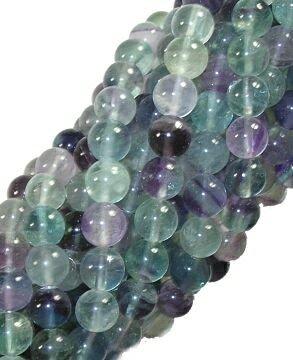 - 8mm Rainbow Flourite Round Beads