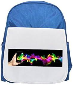 Teléfono móvil, smartphone, mochila azul para niños con estampado a mano, mochilas bonitas, mochilas pequeñas, mochila negra, mochila negra, mochilas de moda, mochilas grandes a la moda, color negro: Amazon.es: Hogar