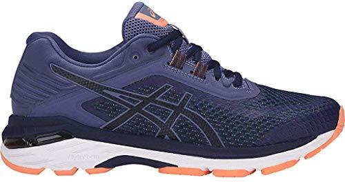 ASICS Women's GT-2000 6 Running Shoe, Indigo Blue/Indigo Blue/Smoke Blue, 7.5 XW US