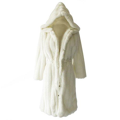 Faux Rabbit Fur Coat - 4