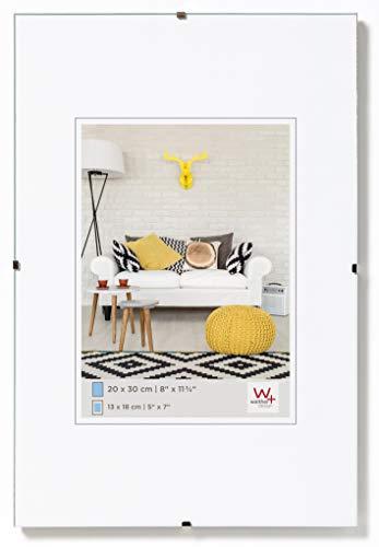 Walther Design Porta imagenes sin Marco Fotos, Vidrio Transparente, 30x42 cm