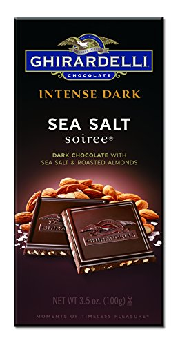 Ghirardelli Chocolate Intense Dark Bar, Sea Salt Soiree, 3.5 Ounce, Pack of 12