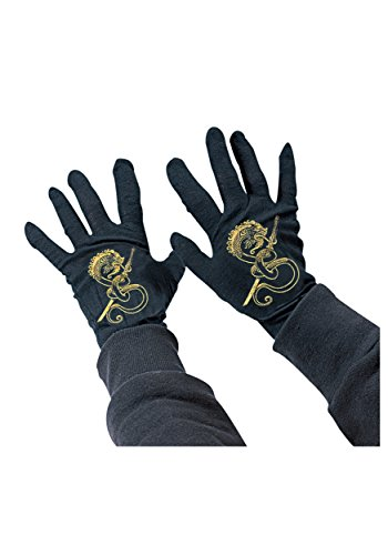 [Rubies Child's Black Ninja Gloves] (Ninja Dragon Costumes)