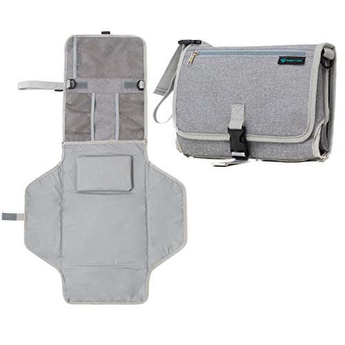 Portable Diaper Changing Pad and Clutch for Baby and Infant. Change Table Cover with Wipeable ()