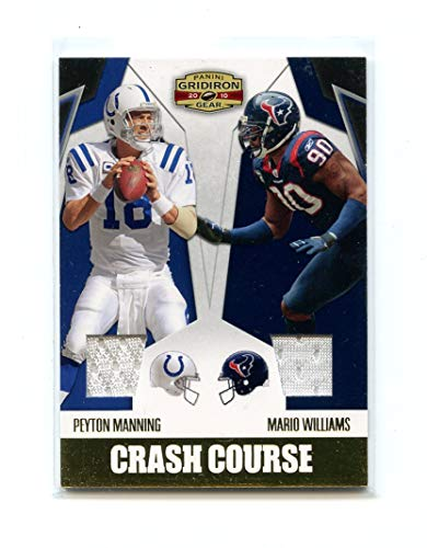 (2010 Panini Gridiron Gear Crash Course Jerseys #3 Mario Williams Peyton Manning)