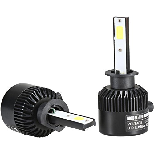 2pcs Waterproof 12V LED COB Car Auto DRL Driving Daytime Blue - 9