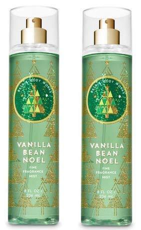 Bath and Body Works 2 Pack Vanilla Bean Noel Fine Fragrance Mist 8 oz. Bath Body Works Vanilla Bean