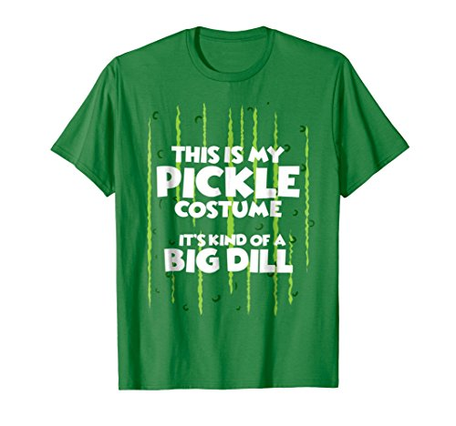 Mens Pickle Halloween Costume Shirt Easy Funny Women Men Kids Small Kelly Green -