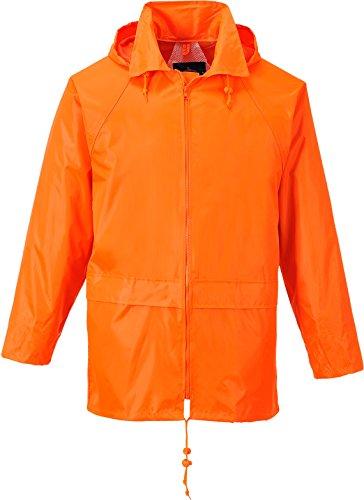 (Portwest Men's Classic Rain Jacket XL (Chest 46-48in) - Orange)