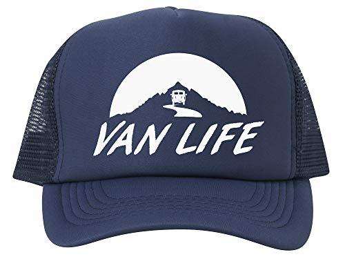 Van Life Adjustable Mesh Trucker Hat - White - ()