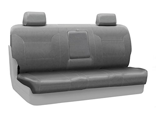 Coverking Custom Fit Front Solid Bench Seat Cover for Select Ford F-100 Ranger Models - Rhinohide (Steel Gray)