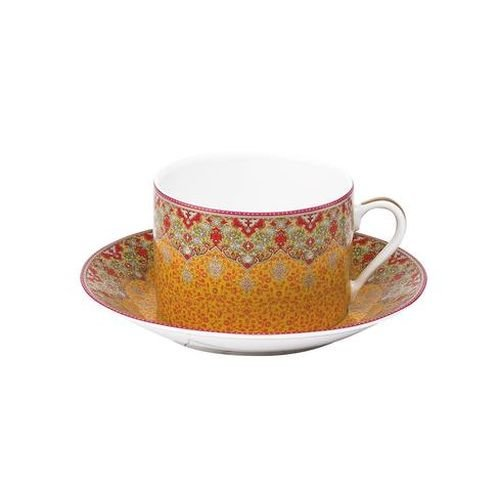 Dhara Red Breakfast Saucer by Philippe Deshoulieres