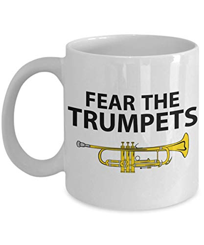 (PixiDoodle Awesome Trumpets Band Coffee Mug (11 oz, White))