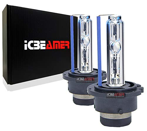 ICBEAMER 8000K D2S D2C D2R Xenon Factory HID Replace Philip Sylvania Osram OEM Headlight Low Beam Color Light Blue Bulb