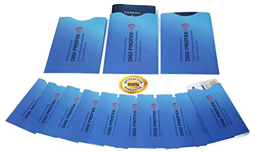 RFID-blockierende Reisepass-Hülsenhalter Blau (3) + RFID-blockierende Kreditkarten-Hülsenhalter Blau (10) * Anti-Dieb RFID Hüllen-Schutz-Halter * RFID Schutzhülle * Wasserresistenter Schutzbeutel Großartig für Ihren Geldbeutel * Ihr Bestes RFID (NF) Reise-Sicherheitspaket von Digi Protek SP3-10 Blau