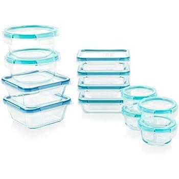 Snapware 1122515 Glass Food Storage Set, 24-Piece, Clear