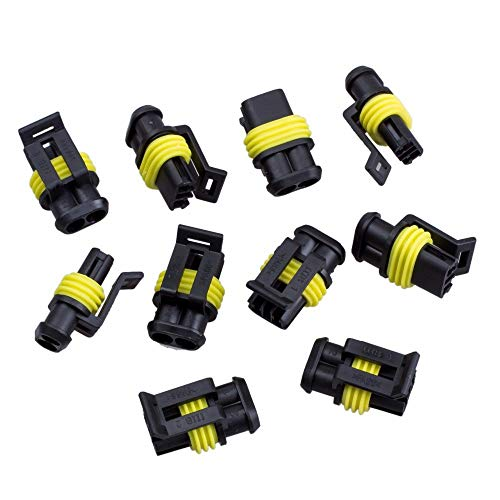 popluxy 10 Pcs Car Wire Connector Waterproof Electrical Terminal Wire Connector Plug for Scooter Motorcycle Car Truck Boat: Business, Industry & Science