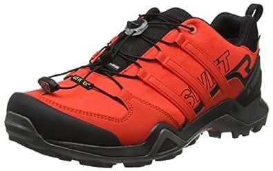 adidas Men's Terrex Swift R2 GTX Shoes, Core Black/Hi-Res Red/Grey One, 7.5 US (7.5 AU)