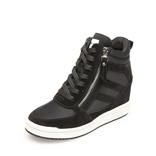 Caerse redondo cremallera zapatos'/Departamento de deportes y zapatos del ocio/Aumentar zapatos de mujer B