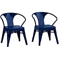 Reservation Seating Kids Steel Chair, Navy, One Size