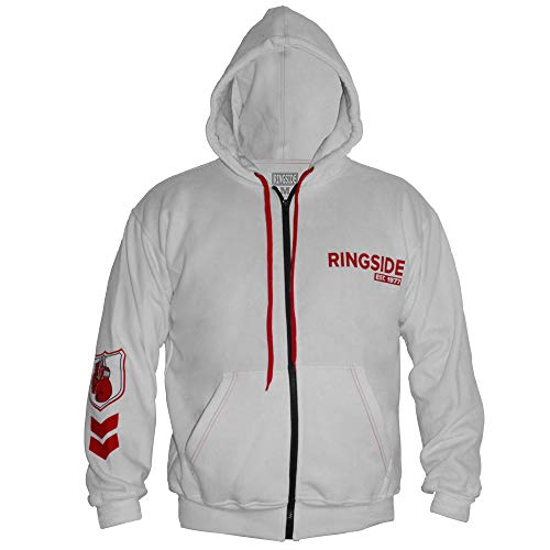 Ringside Industry Domination Hoodie, White/Red, Large