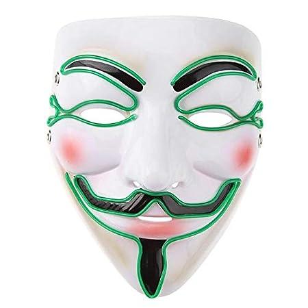 VDV Máscara de Halloween EL, Divertidas máscaras de Alambre para ...