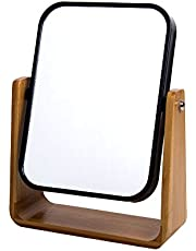 Bodico Countertop Mirror with Bamboo Stand, 7 x 9 inches, Black (74364DC-BK)