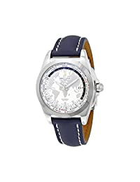 Breitling Galactic Unitime Antarctica Blue Leather Mens Watch WB3510U0-A777BLLD