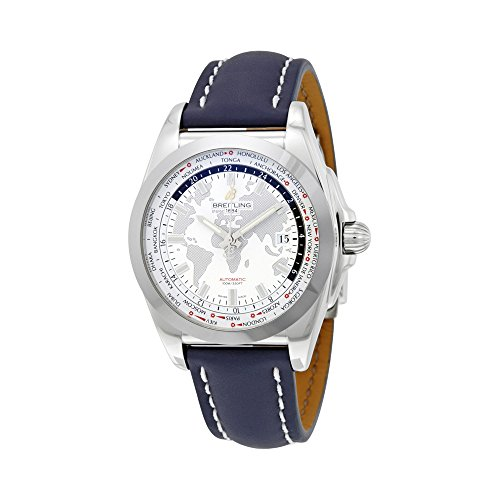 Breitling Galactic Unitime Antarctica White Dial Mens Watch WB3510U0-A777BLLD
