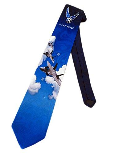 Air Force Necktie (Steven Harris Mens United States Air Force Necktie - Blue - One Size Neck Tie)