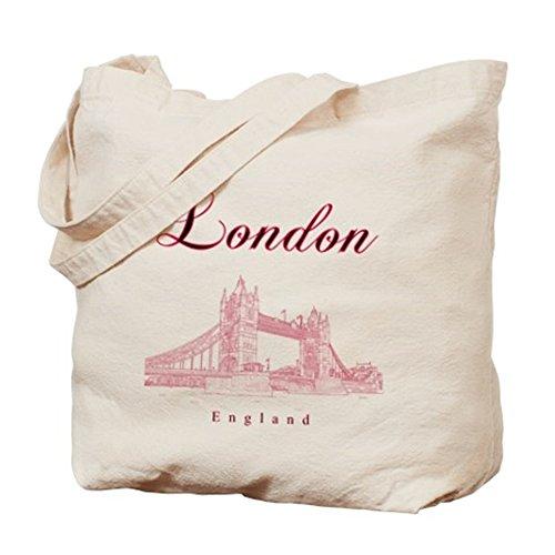 CafePress–London–Borsa di tela naturale, panno borsa per la spesa