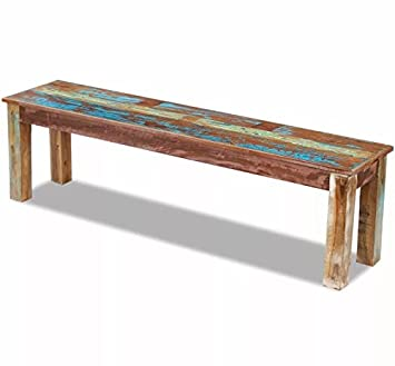 Pleasing Vintage Dining Bench Solid Reclaimed Wood Furniture Rustic Alphanode Cool Chair Designs And Ideas Alphanodeonline