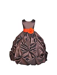 Ekidsbridal Girl's Flower Girl Dress 2 Brown/Black