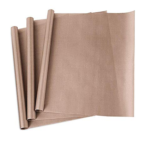 "PTFE Teflon Sheet, 3-Pack Teflon Sheet for Heat Press Transfers, 16 x 20"" Heat Resistant Craft Sheet, 100% Non Stick Protects Iron and Work Area (3pack-New)"