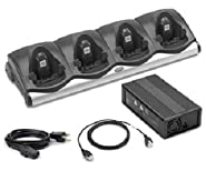 Motorola MC9000 4 Slot Charging Cradle - CHS9000-4001C / AC Line Cord / Power Supply / Compatible with MC9090 MC9190 MC9060