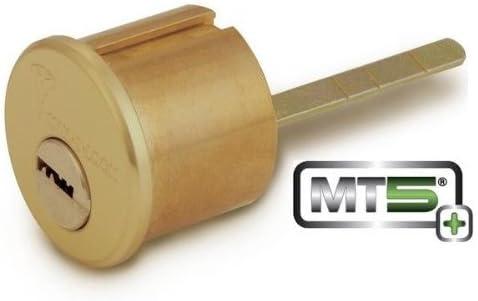 Mul T Lock Mt5 Rim Cylinder Satin Brass Amazon Com