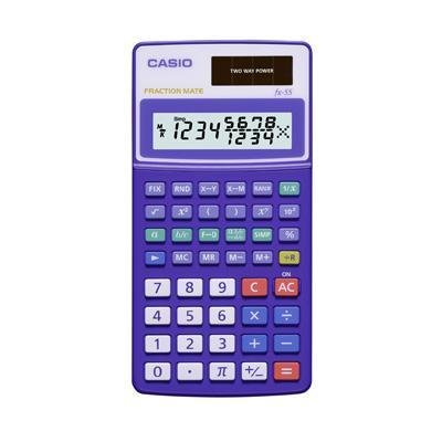 Casio FX-55 Scientific Calculator with True Fraction Display
